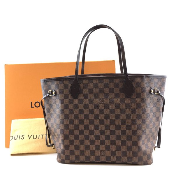 Louis Vuitton Handbags - Neverfull  Mm Tote Ébène Canvas Shoulder Bag